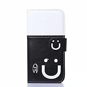 QHY Smiling Face Pattern Full Body Cover for iPhone 5/5S , 5#