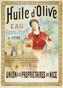 FRENCH VINTAGE METAL SIGN 40X30cm RETRO AD NICE OLIVE OIL - M69