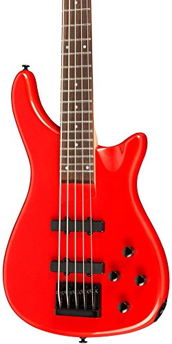5 String Neck Thru Bass - Rogue LX205B 5-String Series III Electric Bass Guitar Candy Apple Red
