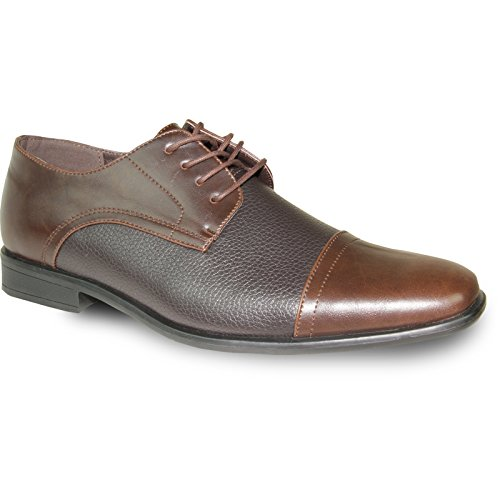 BRAVO Men Dress Shoe NEW KELLY-2 Classic Emmert Cap Toe with Leather Lining Brown Matte 10.5W Kelly Matte