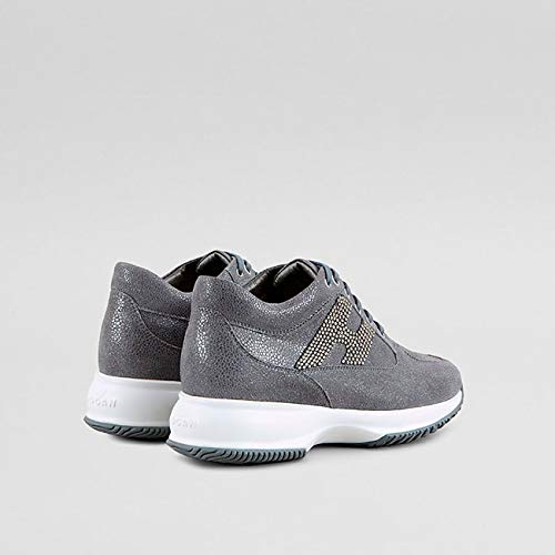 in Grey Interactive Womens Hogan Shiny Leather BqPwWUTS