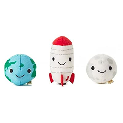 Hallmark Happy Go Luckys Toddler Toys, Small Stuffed Animals, Space Shuttle Earth Mama Moon, Set of 3: Toys & Games