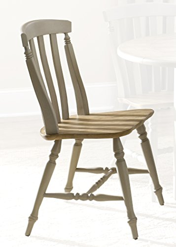 Back Oak Chair Slat (Liberty Furniture 541-C1500S Al Fresco Dining Slat Back Side Chair, 21
