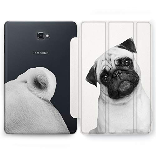 Wonder Wild Cute Pug Samsung Galaxy Tab S4 S2 S3 A E Smart Stand Case 2015 2016 2017 2018 Tablet Cover 8 9.6 9.7 10 10.1 10.5 Inch Clear Design Zoo Print Dog Minimalism Pattern Pretty Funny Pet]()