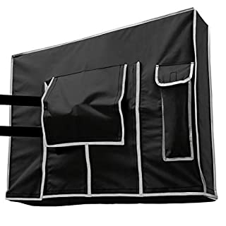 Outdoor TV Cover 55 inch Black - Weatherproof Protection for Flat TVs - Universal for Any Mounts and Stands