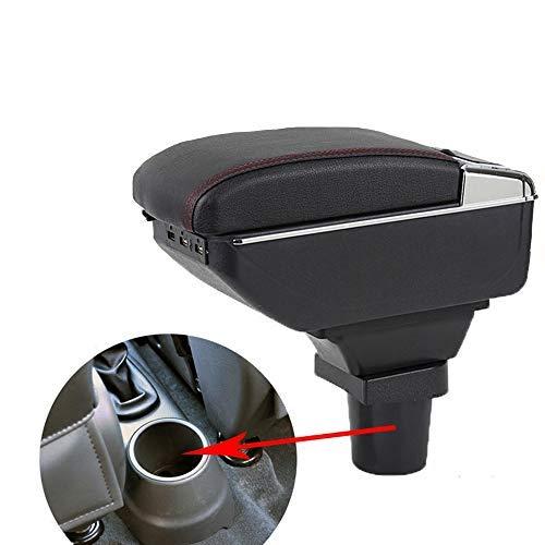 SZSS-CAR Leather Car Interior Parts Center Console Armrest Box for Chevrolet Spark 2011 2012 2013 2014 2015 2016 2017 Auto Armrests Storage(Black Color)