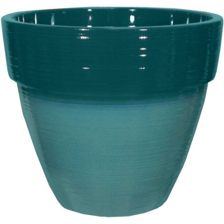 Better Homes and Gardens Dubai 15'' Decorative Resin Planter, Lake/Teal by Better Homes & Gardens..