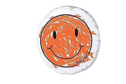 Odenwä lder Schmusekissen Smiley, Design:neon orange Odenwälder