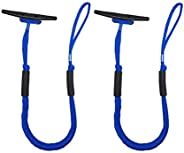 2 Pack of Jranter Bunggee Dock Lines-3.5-5.5 ft Mooring Rope for Boats Docking