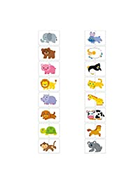 Flash Cards Cognition Puzzle Anti Tear Puzzle Set Matching Game Educational Toy for Baby Animal Theme 1Set