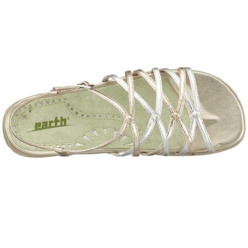 Earth - Zapatos de pulsera para mujer Plateado