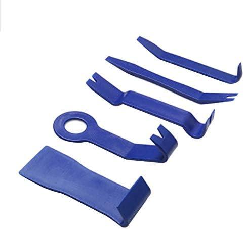 高強度ナイロン車のドアパネルダッシュトリムの取り外しこじ開けツールKITCARオーディオ分解ツール5個セット-青