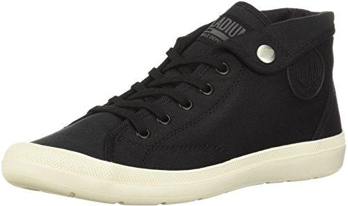 Palladium Women's Adventure CVS Sneaker, Black, 9 Medium US - Palladium Flats