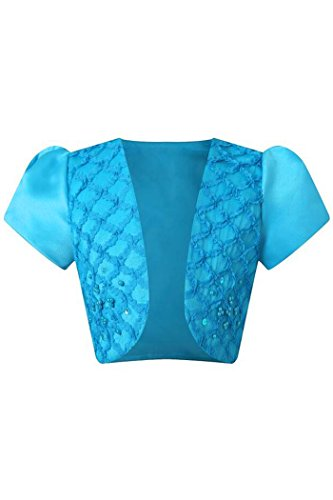 YMING Girls Big Girls' Cover Shoulder Bolero Bolero With Pearls 5-6 Years Blue (Blue Peter Halloween Decorations)