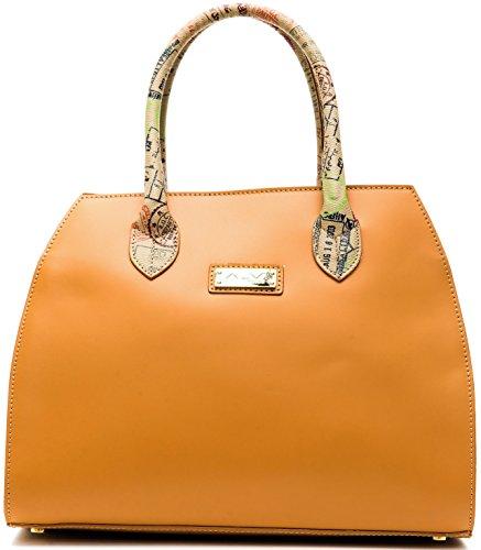 Borsa Bauletto Tracolla Donna Cuoio Beige Medio Alviero Martini Bag Woman Leather Beige Medium RIOD117D003B