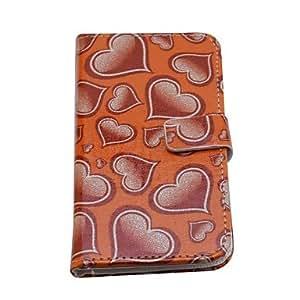 WQQ lureme corazón de la manera impresión de cuero de la PU caso de cuerpo completo para iphone 6