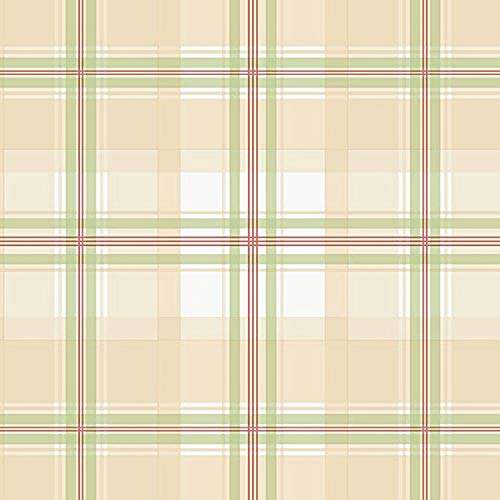 Norwall NWKE29915 Portsmouth Plaid Textured Wallpaper, Tan, Multi-Colored