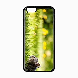 iPhone 6 Black Hardshell Case 4.7inch lying grass Desin Images Protector Back Cover