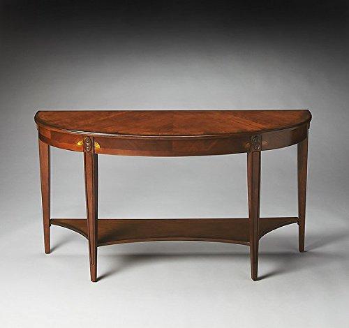 BUTLER 4146101 ASTOR OLIVE ASH BURL DEMILUNE CONSOLE TABLE ()