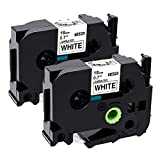 Airmall 2 Pack Compatible Laminated Tape Black on
