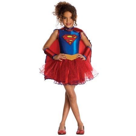 [Supergirl Tutu Child Halloween Costume (S (4-6))] (Costume Halloween Walmart)
