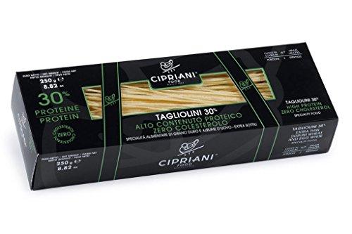 Cipriani Food High Protein 30% Tagliolini Extra Thin Egg White Pasta, 8.82 oz (Egg White Pasta)