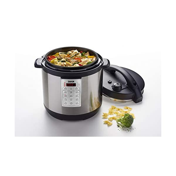 Zavor Select 6 Quart Electric Pressure Cooker and Rice Cooker with Non-stick Inner Cooking Pot and Brushed Stainless… 6