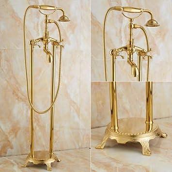 Bañera de jade natural dorada ducha de pie barril lleno columna ...