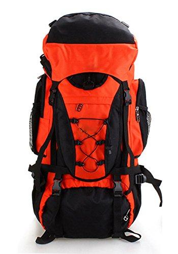 La Sra Bolsa De Gran Capacidad Masculina De Trekking De Montaña 56-75L,56-75L-orange