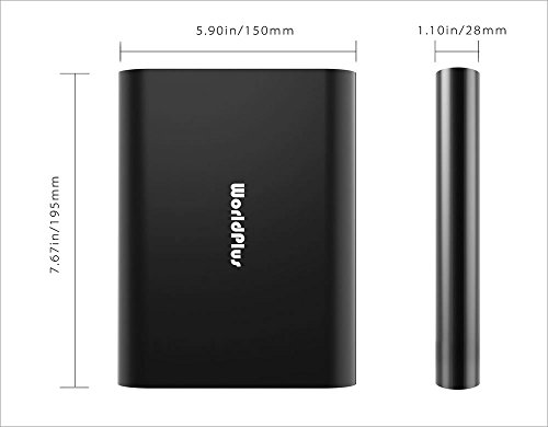  WorldPlus 40000mAh Ultra High Capacity Multi Power Bank QC3.0 New Macbook and Pro / Laptop / iPad / Tablet / Smartphone / Digital Camera (40000mAh Black) by WorldPlus (Image #5)