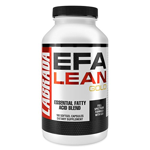 Labrada Nutrition EFA Lean Gold Essential Fatty Acid Softgel Capsules, 180-Count Bottle