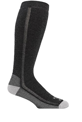 Farm to Feet Men's Ansonville Over The Calf Wader Socks, Charcoal/Platinum, Small