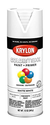 Krylon K05591007 COLORmaxx Spray Paint, Aerosol, White