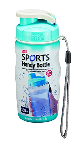 feccca387e Lock & Lock 350ml Gym Sports Handy Bottle With Carry Strap Blue ...