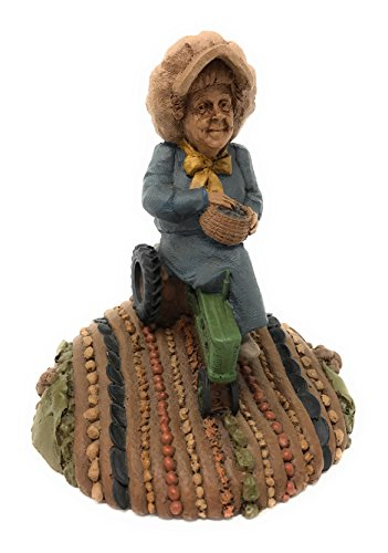 Tom Clark Gnome FLORA Grannie Riding Tractor 1989