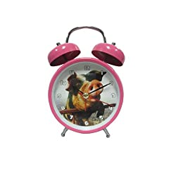 Admiralty Po cartoon fashion small alarm clock mute creative personality metal cute children's toys animal sounds alarm (4 pig)