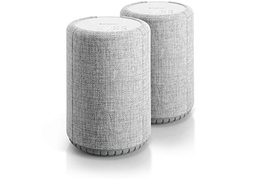 Audio Pro A10 Wireless Multi-Room WiFi Bluetooth Connected Speaker - HiFi - Compatible with Alexa - Light Grey - 2 Pack (Best Wireless Multi Room Audio)