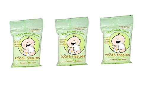 Tooth Tissues *** (3) THREE PACKS *** Dental Wipes for Baby and Toddler Smiles