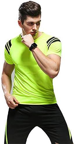 レディースジャージ上下セット ワークアウトスポーツジョギングスーツスポーツウェアメンズランニングセットジム服弾性圧縮タイツフィットネス 吸汗 速乾 (Color : Green, Size : L)