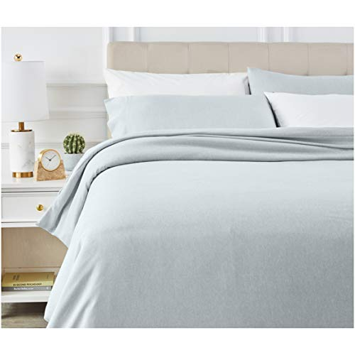 Aqua King Duvet - AmazonBasics Chambray Duvet Cover Bed Set - King, Cool Aqua