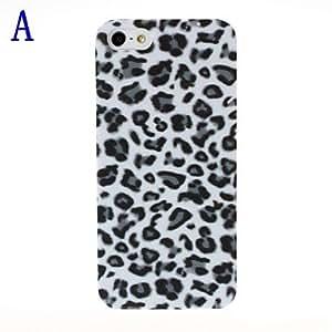 ZXM- Patrón Leopard Funda protectora de plástico para iPhone 5/5S , F