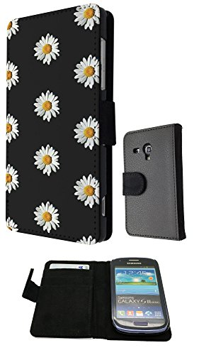Cute Vintage shabby Chic Floral Roses Daisy Samsung Galaxy S3 Mini FashionTrend Wallet Case Flip Credit Card Book Style Cover