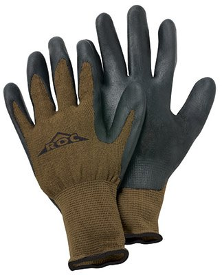 Magid Glove Roc40tl Large Men'S Bamboo The Roc® Knit With Nitrile Gloves