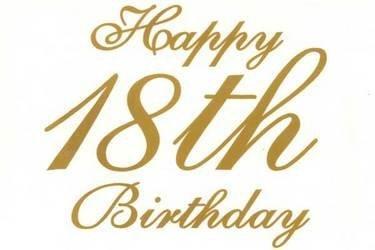 amazon com happy 18th birthday gold text edible cake topper toys