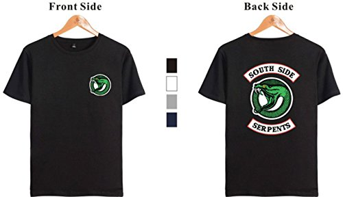 Du Unisexe South Gris Sud Riverdale D'été Serpent shirt Serpents T Seraphy Top Le T8pZ8