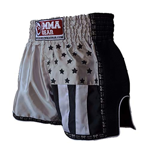 World MMA Gear Premium Muay Thai Shorts Handmade Retro - Kickboxing, MMA, Thai Boxing