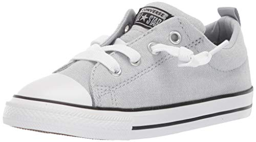 Converse Boys Infant Chuck Taylor All Star Street Knotted Laces Slip On Sneaker, Wolf Grey/Black/White, 10 M US Toddler