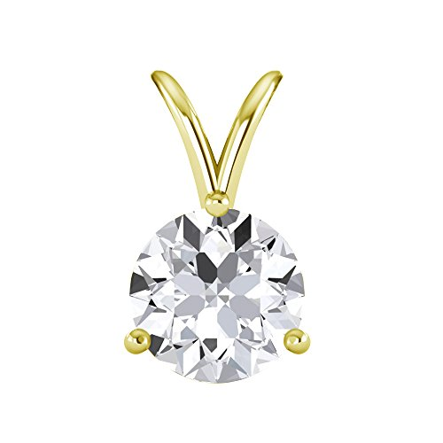 Three Prong Solitaire Pendant - 5