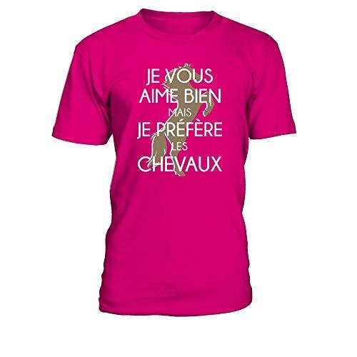 Les Chevaux Teezily Aime shirt Mais Vous T Homme Fuchsia Préfère Je Bien BgHvZgqU