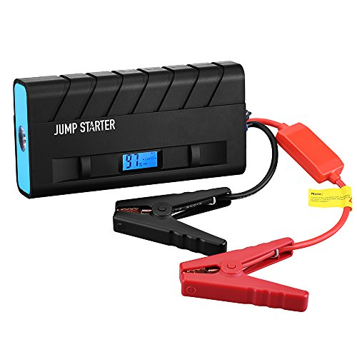 Amazon Lightning Deal 66% claimed: Car Jump Starter Charger, Patec 13600mAh Capacity Rechargeable Portable Power Bank (Buil-in LED Flashlight) with 500A Peak Current for 12V 4.0L Gas/2.8T Diesel Engine, for Emergency/Drivers